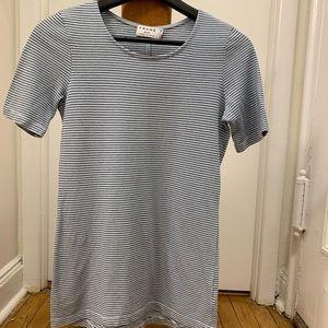Frame Denim T shirt micro stripe